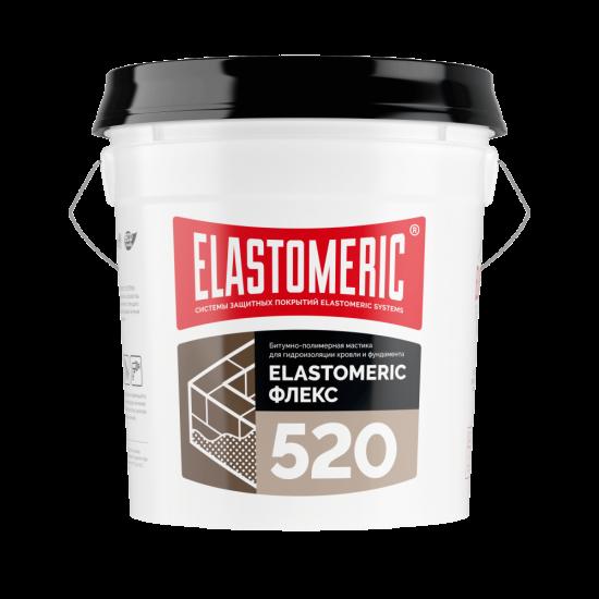 Mодифицированная битумно-полимерная мастика на водной основе ELASTOMERIC - 520 FLEX - ведро 17 кг