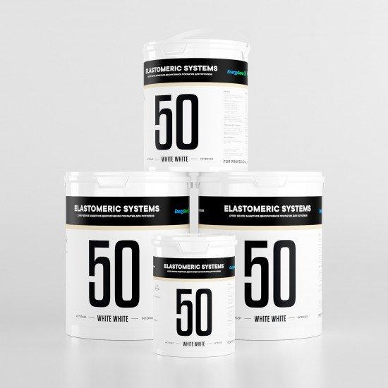 Для лепнины супер-белая краска Elastomeric - 50 White White