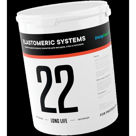 Фасадная краска Elastomeric 22 LONG LIFE. УФ-стойкость, Химостойкость, Эластичнсть, Долговечность