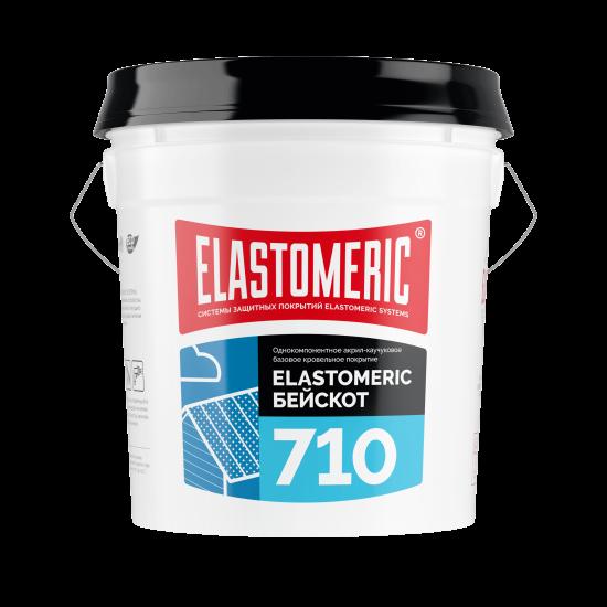 Базовое акриловое гидроизоляционное покрытие ELASTOMERIC - 710 BASE COAT (ведро 20 кг)