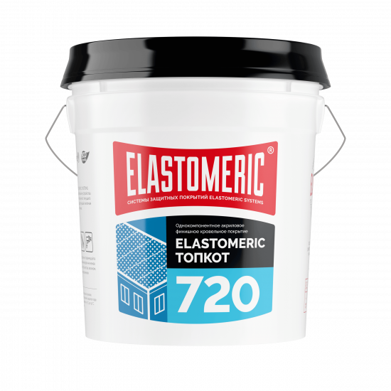 Финишное акриловое гидроизоляционное покрытие ELASTOMERIC - 720 TOP COAT (ведро 20 кг)