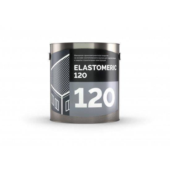 Финишная гидроизоляционная мастика на основе синтетических каучуков Elastomeric - 120/3кг